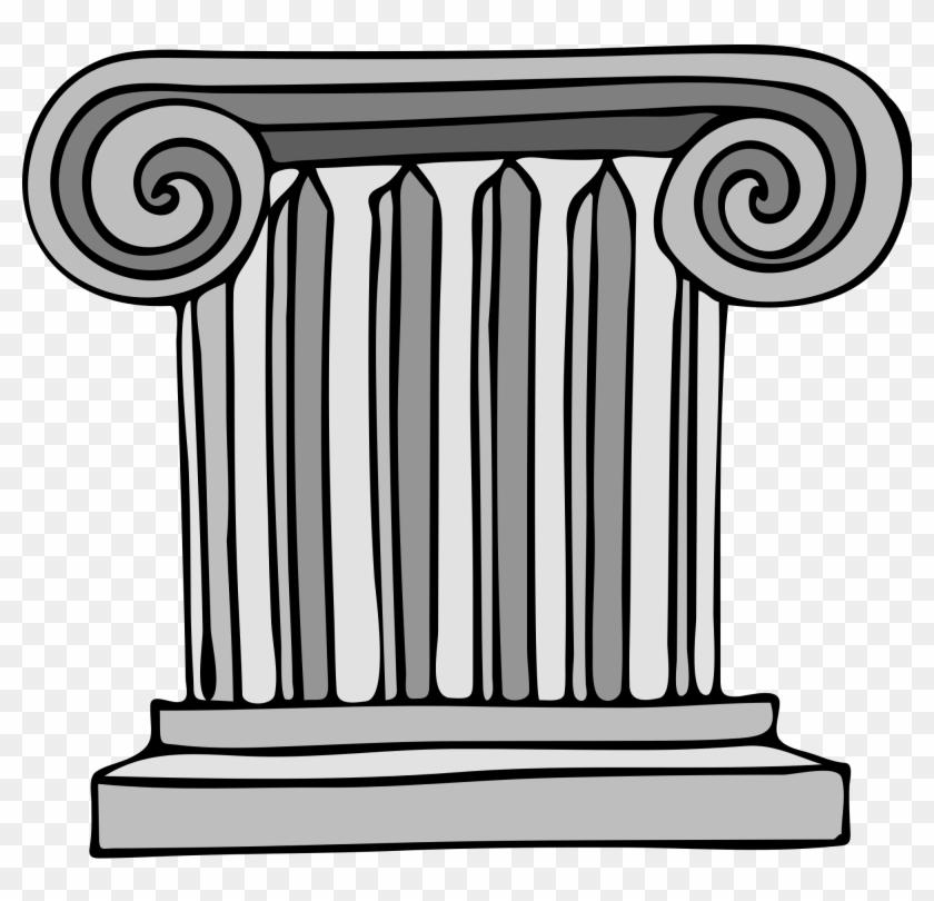 Greece Clipart Ancient Athens - Roman Columns Clip Art #135062