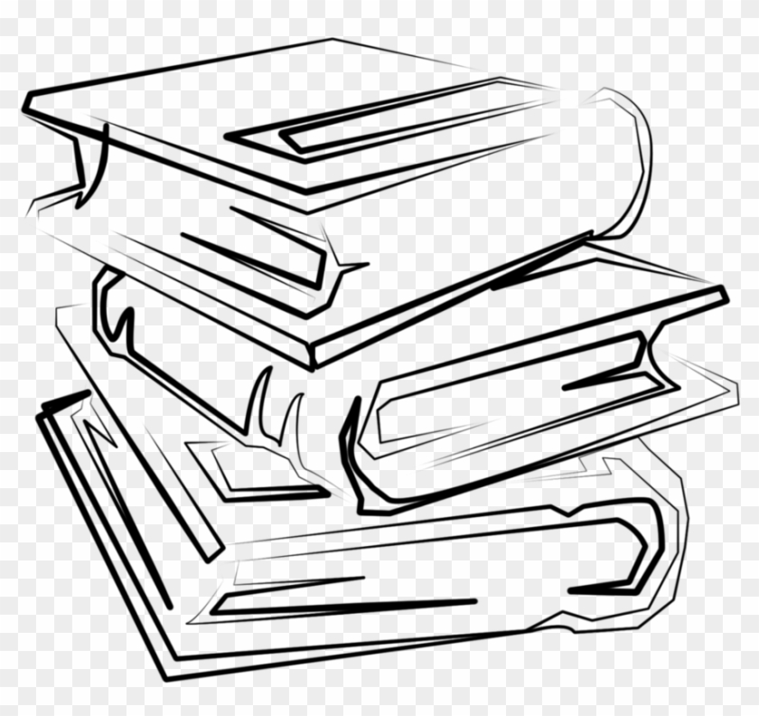 Stack Of Books Drawing Png #135085
