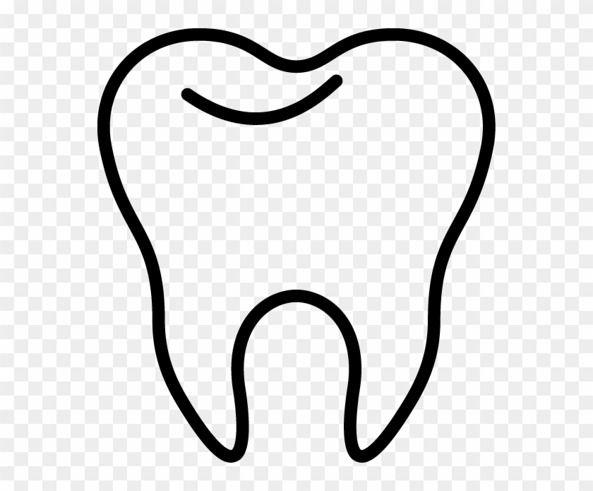 Tooth Clip Art Inderecami Drawing - Tooth Black And White #135087
