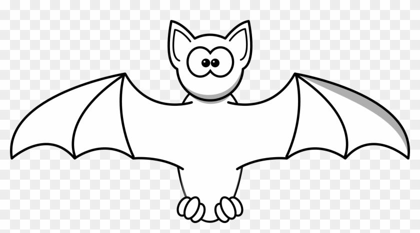 Black Bat Clipart - Bat Black And White Png #135125