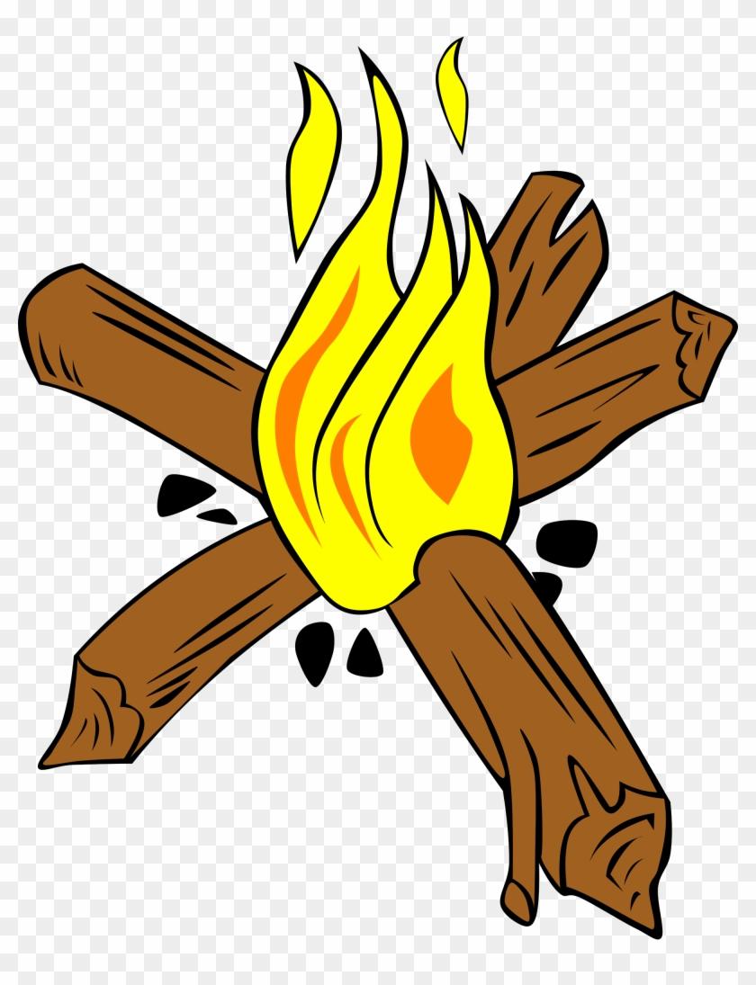 Campfire Camping Fire Making Clip Art - Build A Star Fire #135312
