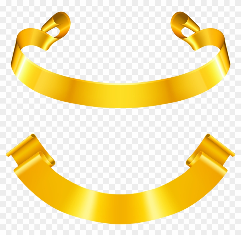 Ribbon Euclidean Vector Gold Clip Art - Ribbon Euclidean Vector Gold Clip Art #135503