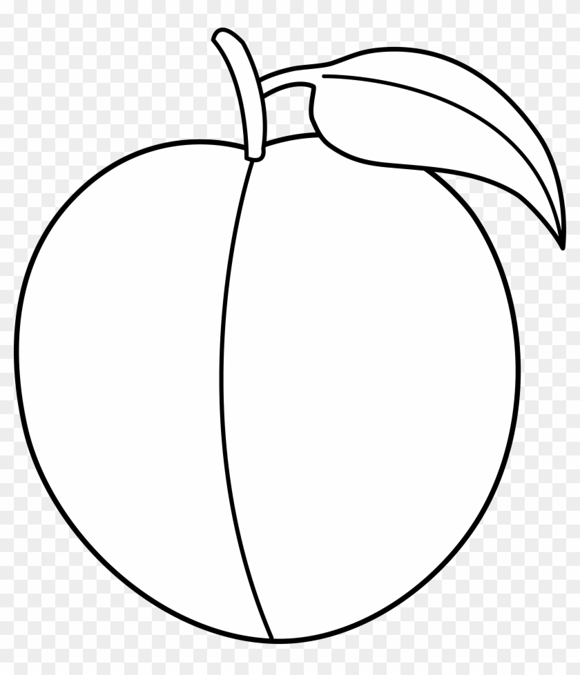Peach Clip Art Black And White - Peach Clipart Black And White Png #135406