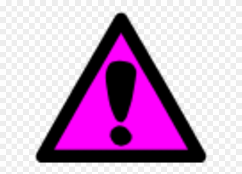 Attention Clipart Craft Projects Symbols Clipartoons - Pink Caution Sign #135411