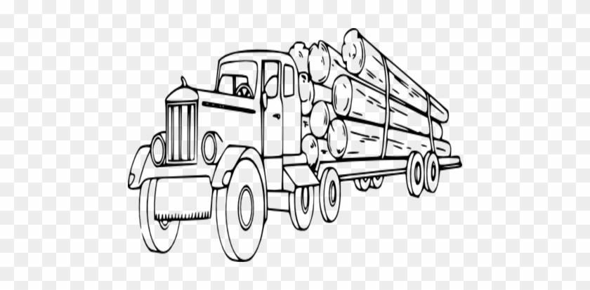 Coloring Trend Medium Size Wood Log Clip Art Truck - Logging Truck Clip Art #135474