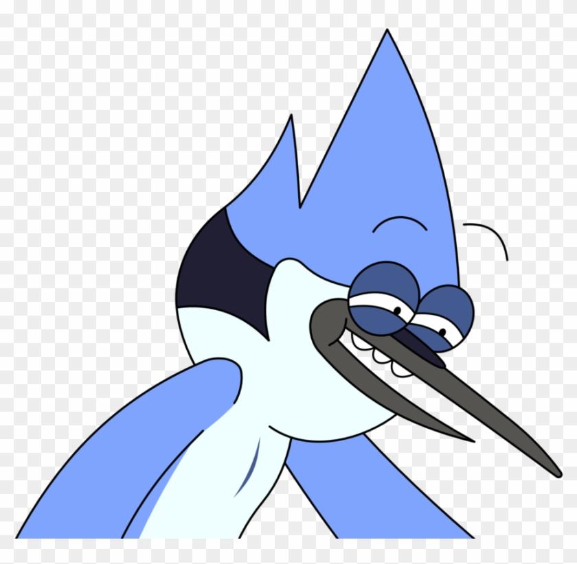 Regular Show Mordecai Rpe Face By Kol98 Clipart - Mordecai Regular Show Face #135555