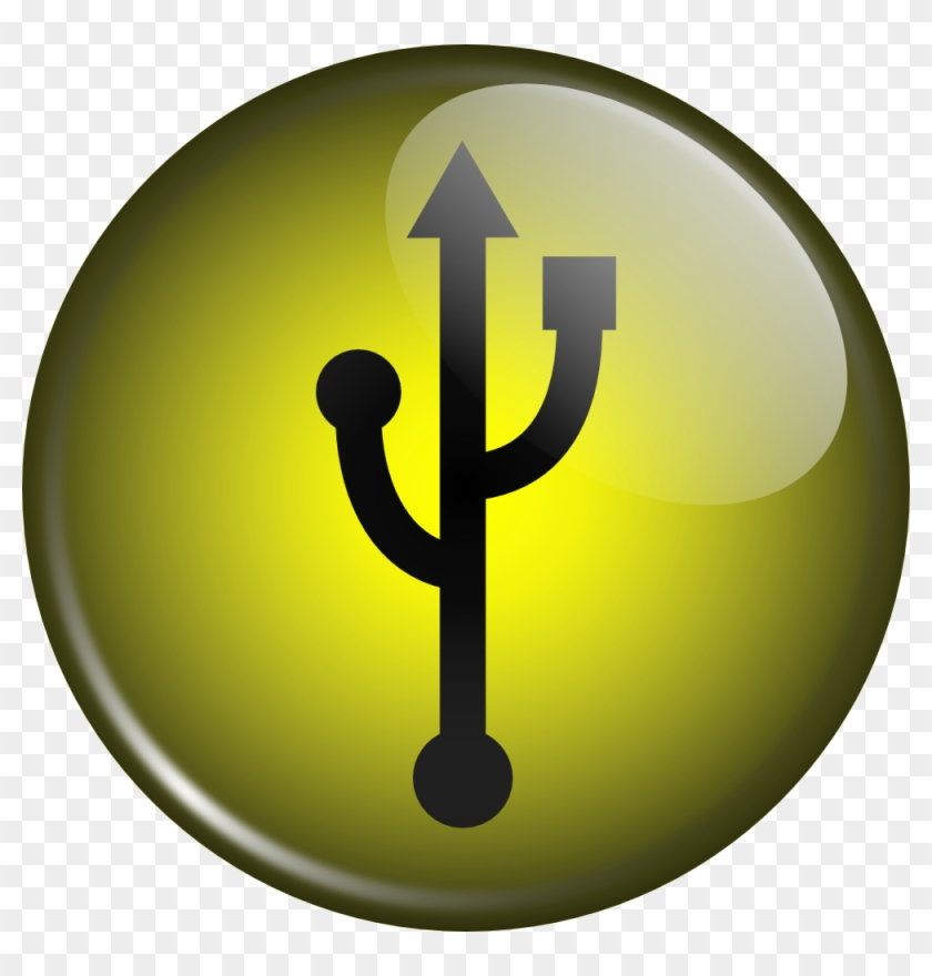 Free Vector Glassy Usb Symbol Clip Art - 3d Usb Icon #135556