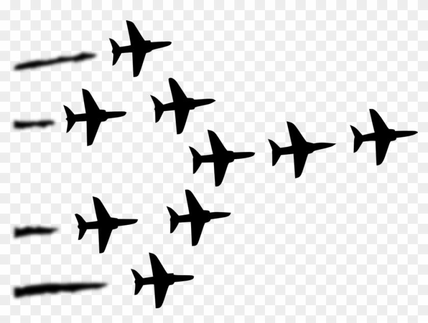 Plane Military Formation Air Show - Clip Art Air Force #135590