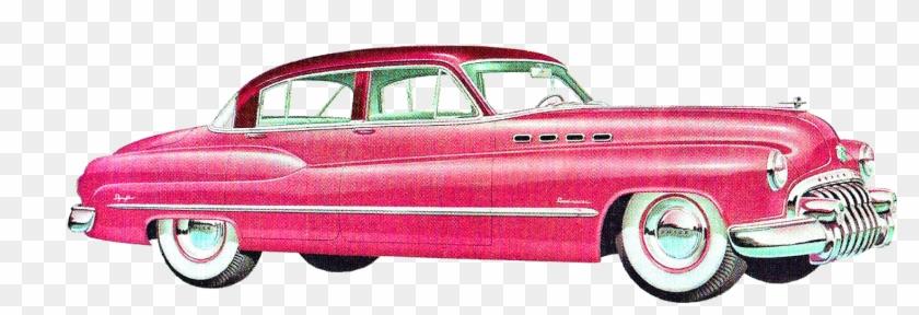 Digital Vintage Car Clip Art Downloads - 1950 Car Png #135618