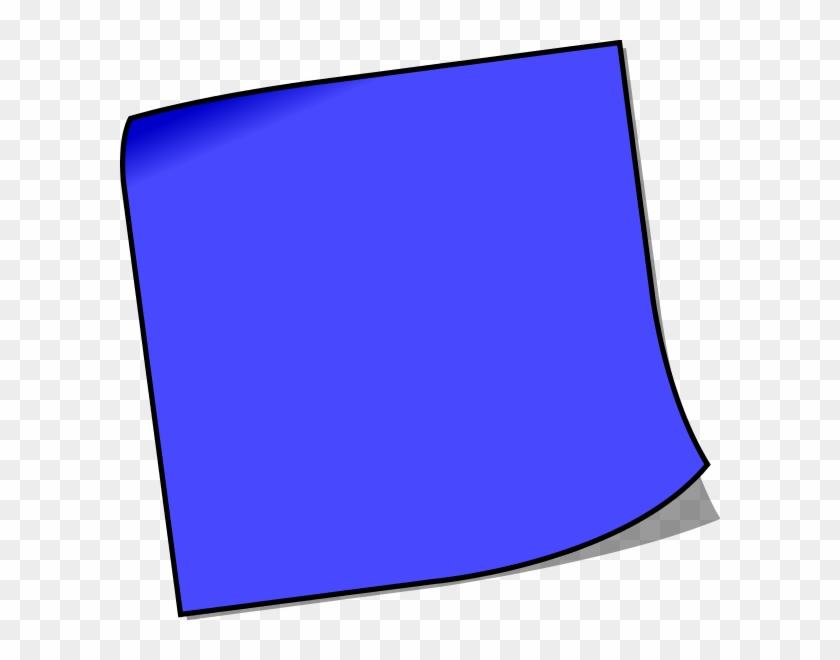 Blank Sticky Note Vector Clip Art - Blank Sticky Note Clipart #135649