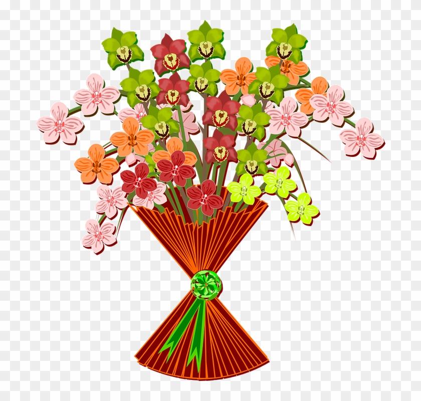 Bouquet Clip Art Flor Flora Flower Nature Plant - Clip Art Free Mother's Day Bouquet #135681