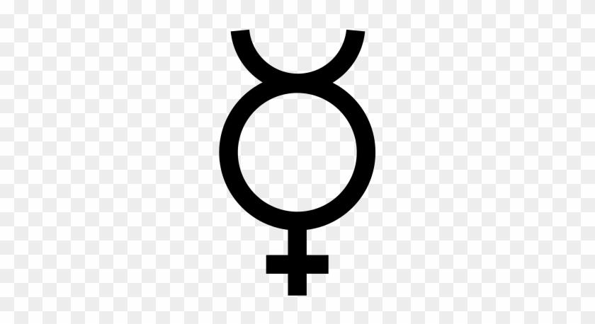 Free Vector Mercury Symbol Clip Art - Simbolo Del Planeta Mercurio #135720