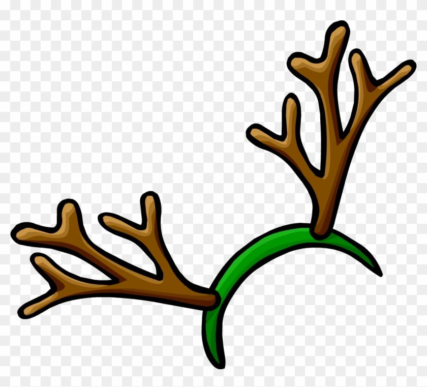 Reindeer - Reindeer Antlers Headband Clipart #135809