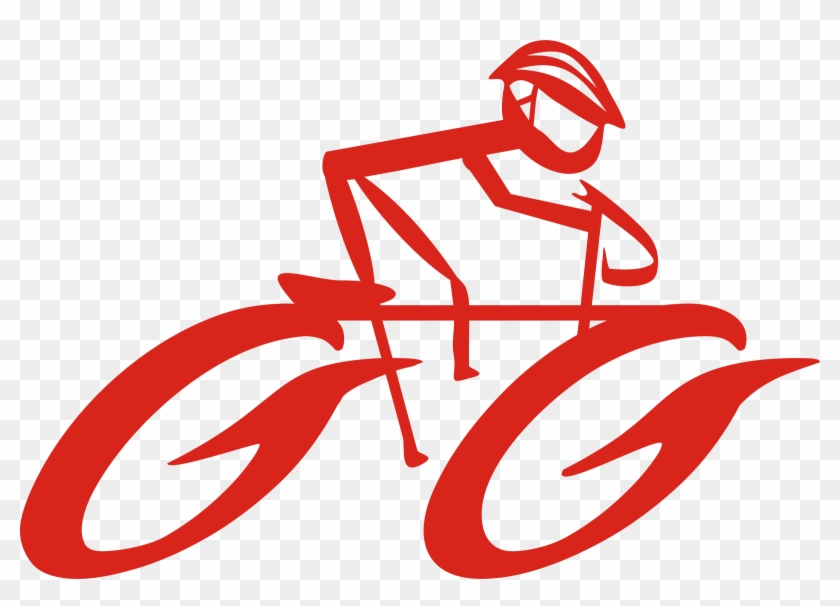 Cyclist On Bike Clip Art Free Vector - Road Bicycle Clip Art #135825