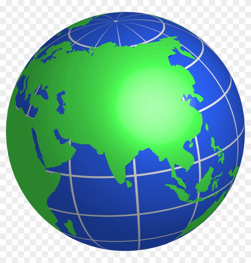 Globe Clip Art Free Download - Earth Asia Png #135972