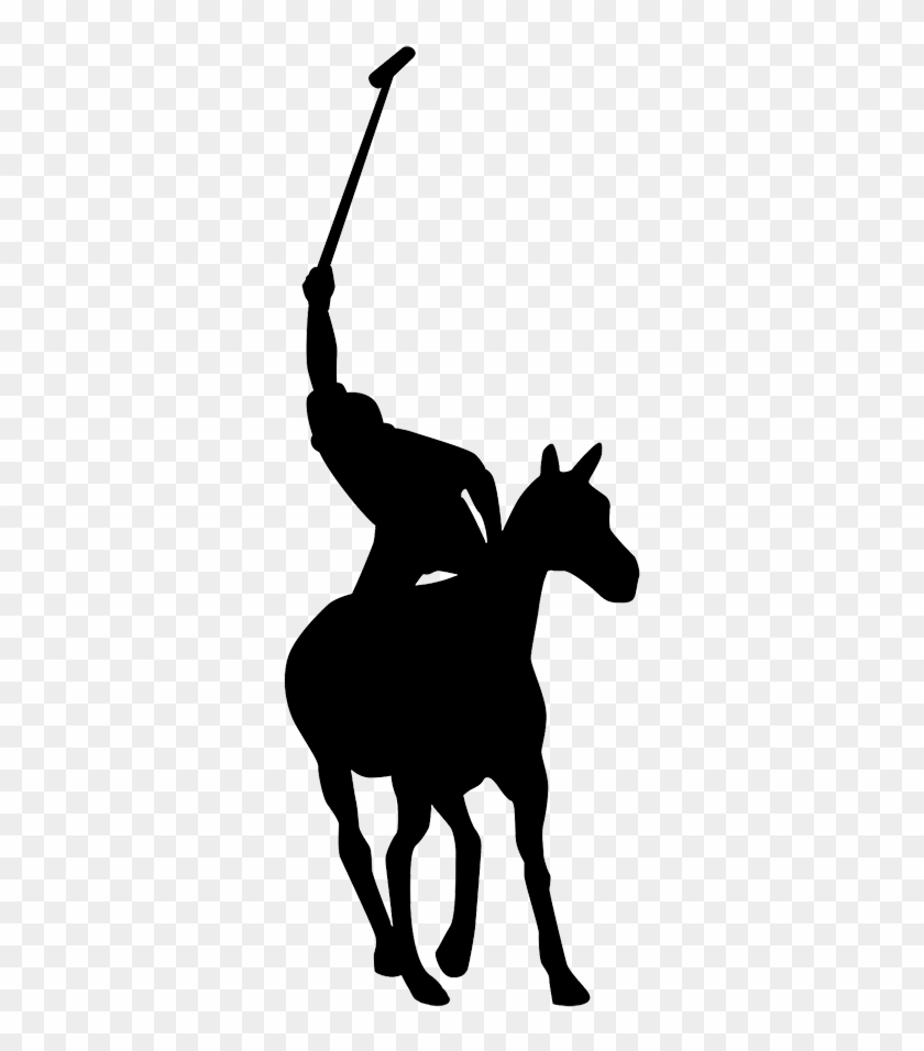 Polo Player Clipart - Silhouette #136031