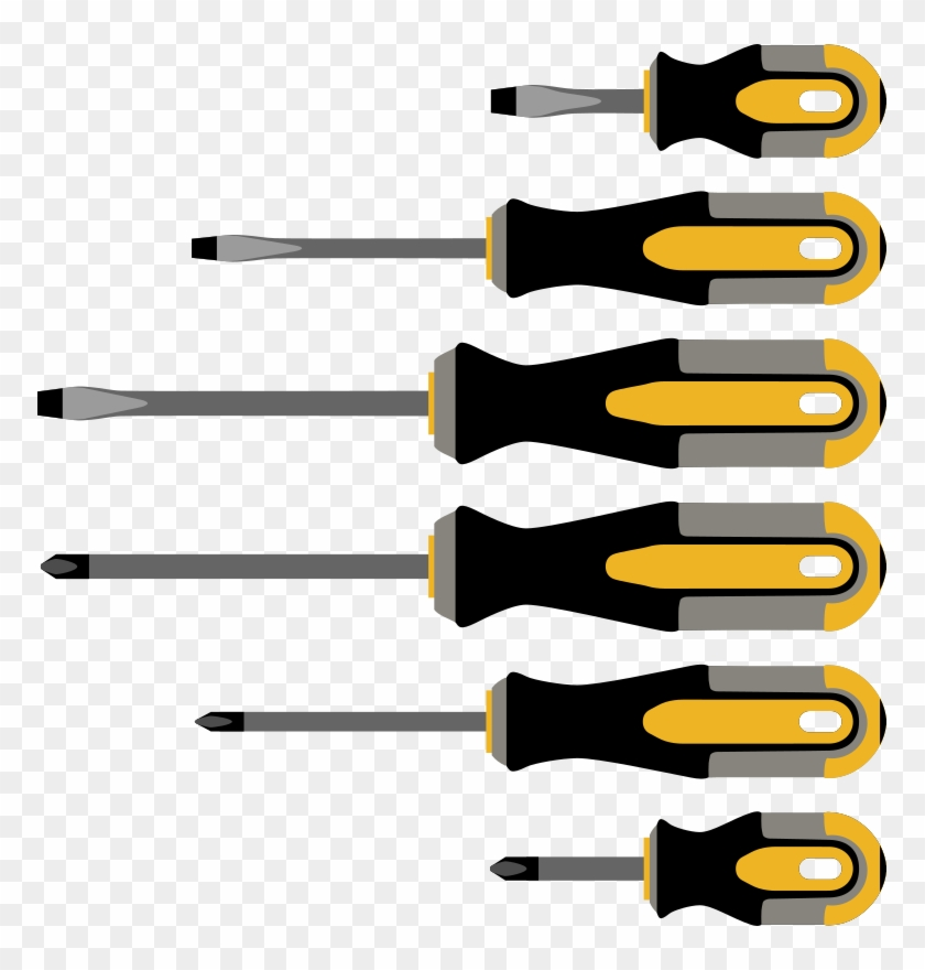 Different Clipart Free For Download - Different Screwdrivers #136046