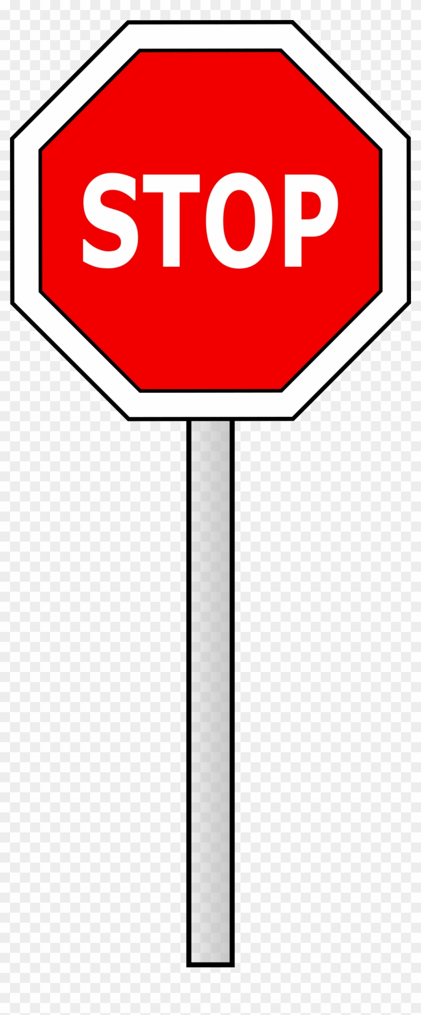 Clipart - - Stop Sign Clipart Png #136111