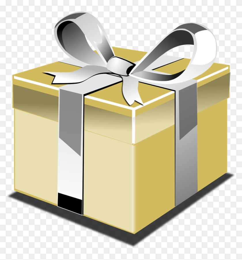 Black And Gold Gift Box Png #136206