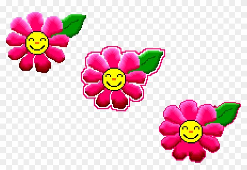 Happy Smiley Face Flowers 3 Make Pixel Art Com - Smiley #136347