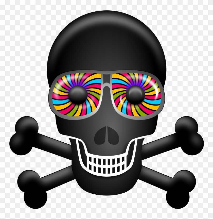 Skull Free To Use Clipart - Psychedelic Skull Png #136374