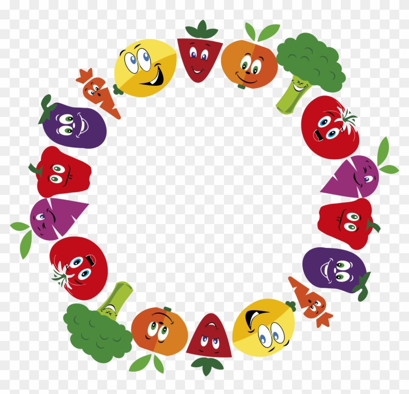 Big Image - Fruits And Vegetables Clipart Border #136409