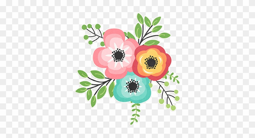 Flower Web - Cluster Of Flowers Clip Art #136448