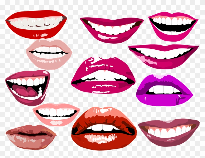 Adult Content Safesearch Smile Lips Make Up Teeth Dental - Tooth #136467