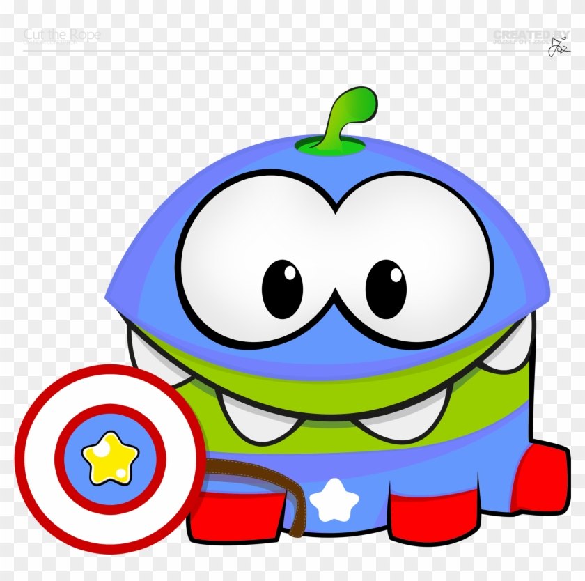 Free Basic Shapes Cliparts, Download Free Clip Art, - Cut The Rope Capitan America #136594