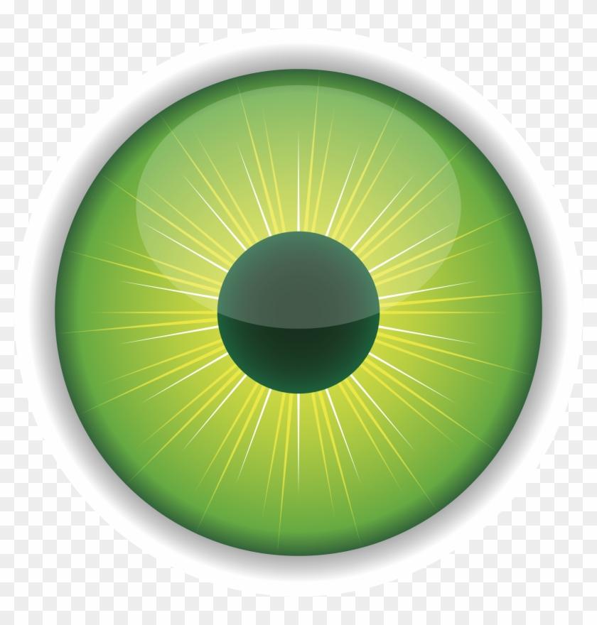 Pin Green Eyes Clipart - Eyeball Eye Iris Pupil Purple Human #136751