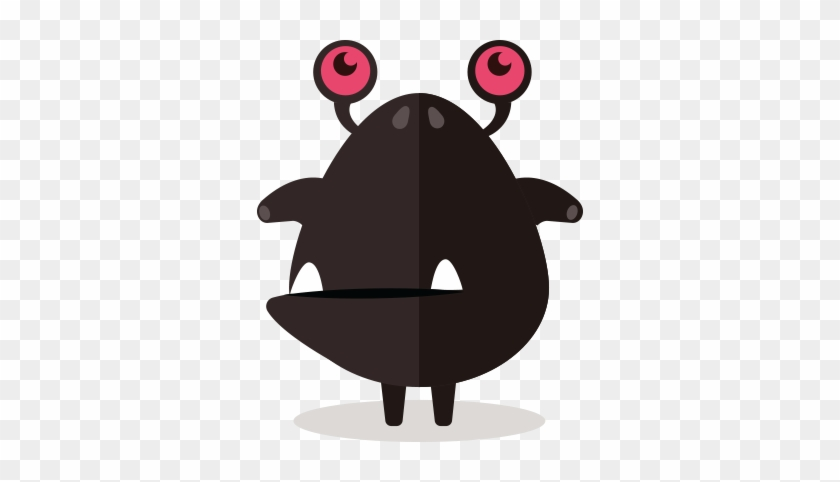 Cute Fun Monster Clipart - Cute Grey Black Monsters Clipart #136808