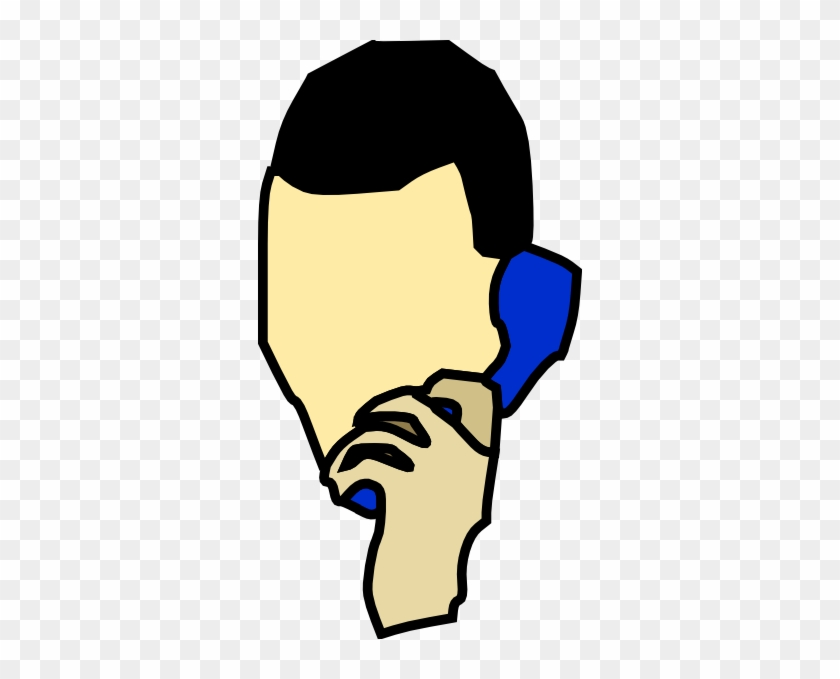 Free Vector Man Talking On The Phone Clip Art - Cartoon Person Talking On The Phone #137038