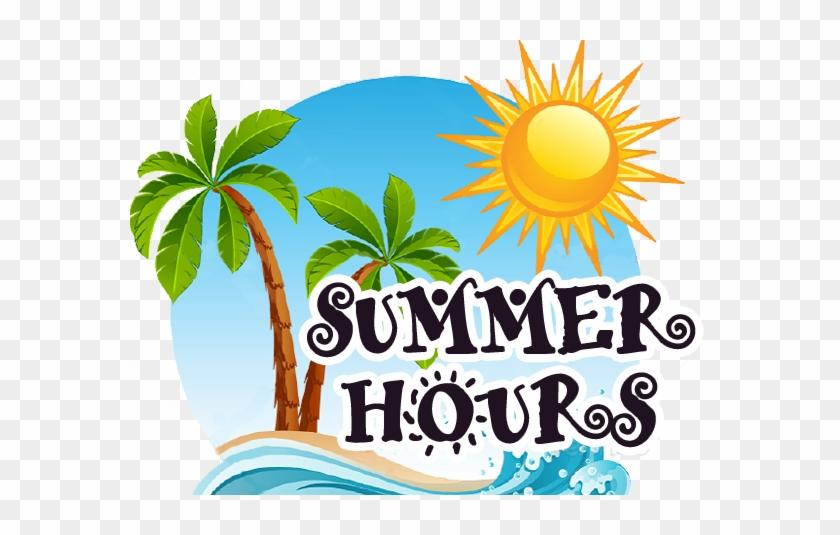 Summer Office Hours St - Palm Tree Beach Clip Art #137169