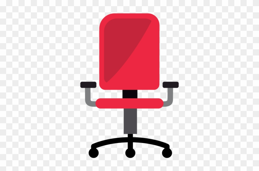Red Office Chair Clipart Transparent Png - Office Chair Icon Png #137175