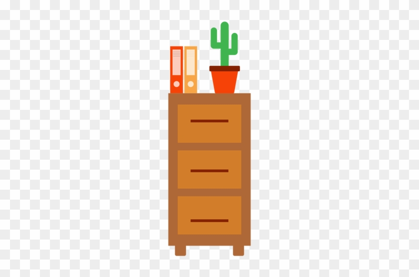 Office Cabinet With Cactus Clipart Transparent Png - Cactus Cliparts #137177