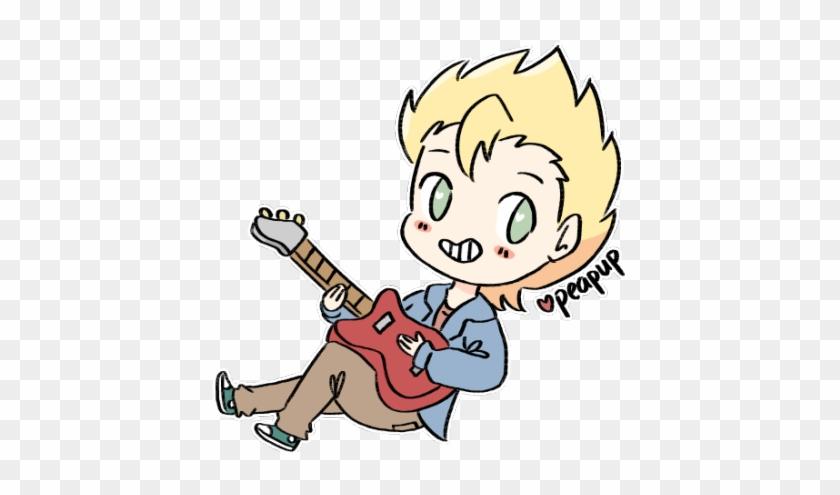 Electric Guitar Clipart - Chibi Boy With Guitar #137352