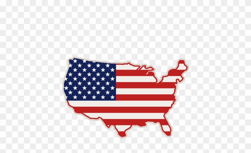 United States Svg Scrapbook Cut File Cute Clipart Files - Sua Flag Map Vector #137353