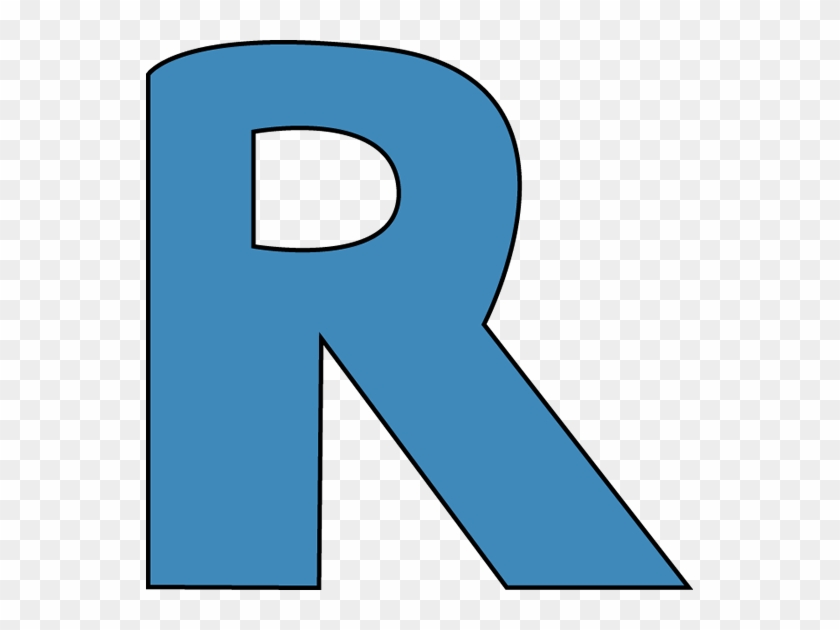 Blue Alphabet Letter R Clip Art - Letter R Clipart Blue #137439