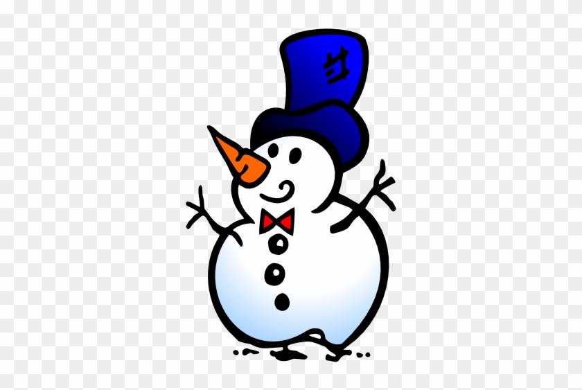 Free Clipart Of A Fun, Playful Snowman - Cartoon #137454