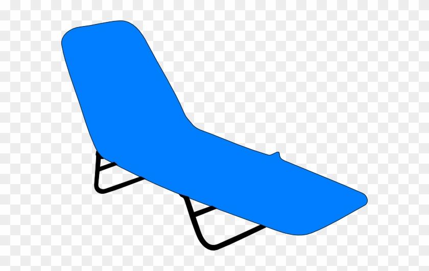 Clipart Beach Chairs Chair Clip Art At Clker Com Vector - Beach Lounge Chair Clipart #137529