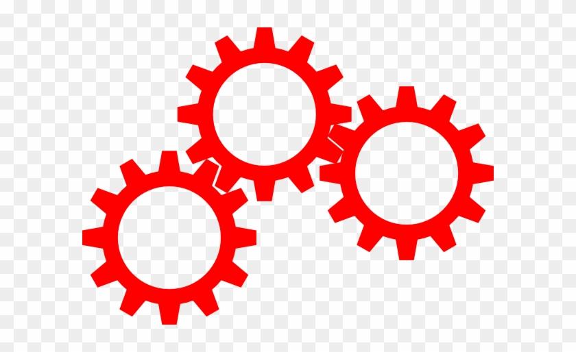 Gears Inter Lock Clip Art At Clker - Spur Gear Clip Art #137542