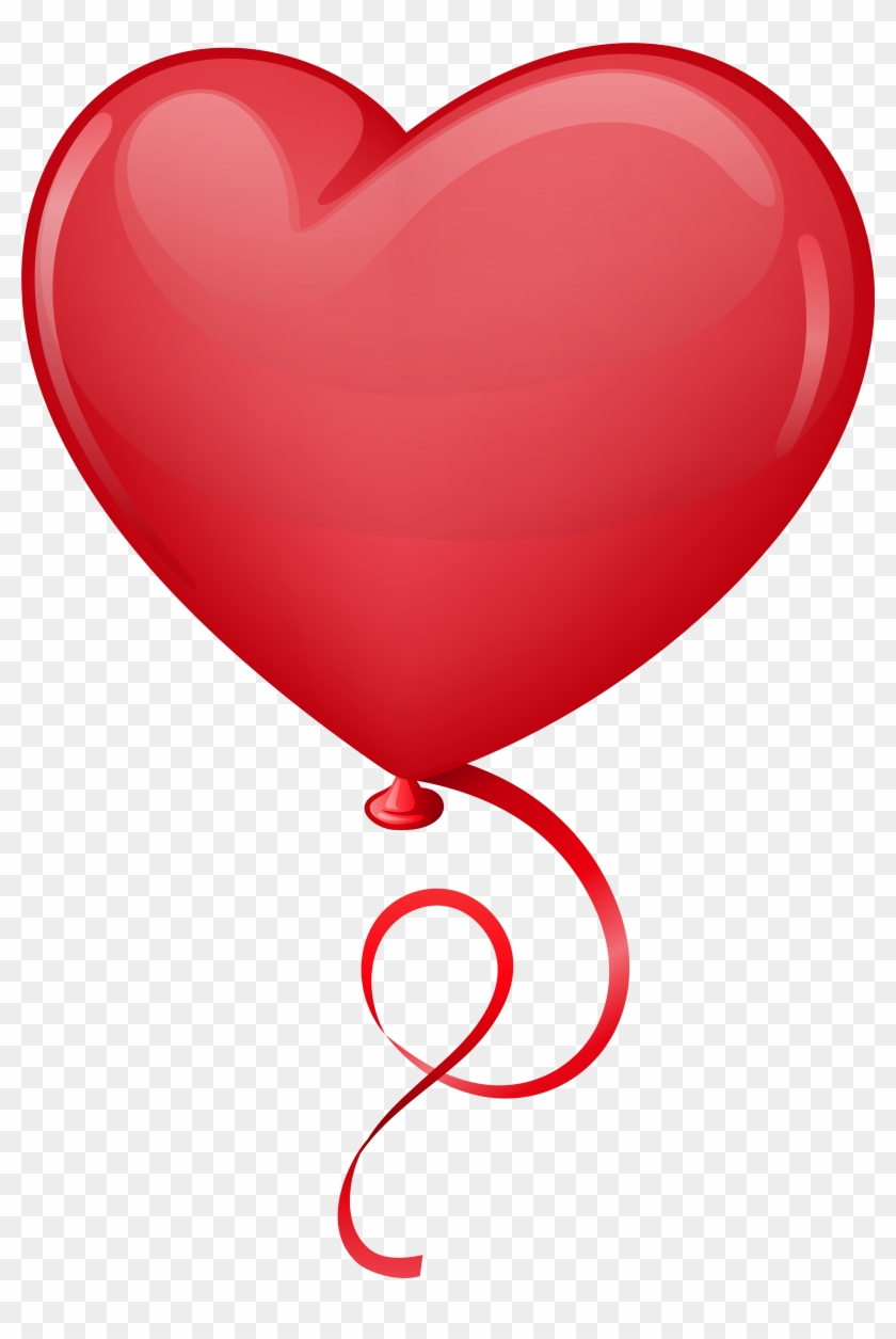 Pin By Kim Heiser On Valentines Clip - Heart Balloon #137749