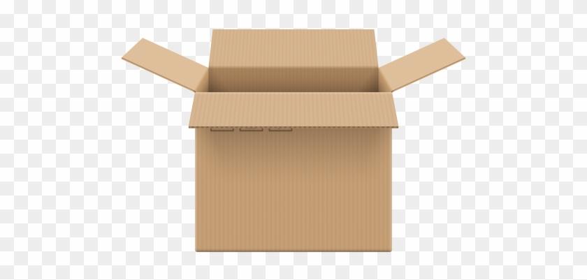 Cardboard Box Open Png Clip Art - Cardboard Box Png #137795