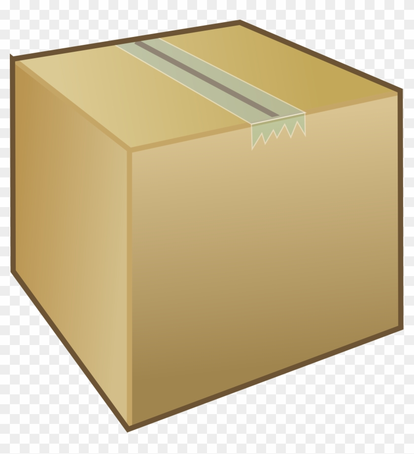 Box Cardboard Closed Carton Moving Taped Package - Box Clipart #137797