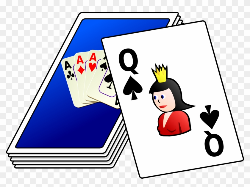Free Vector Cards Deck Clip Art - Deck Of Cards Clipart Png #137806
