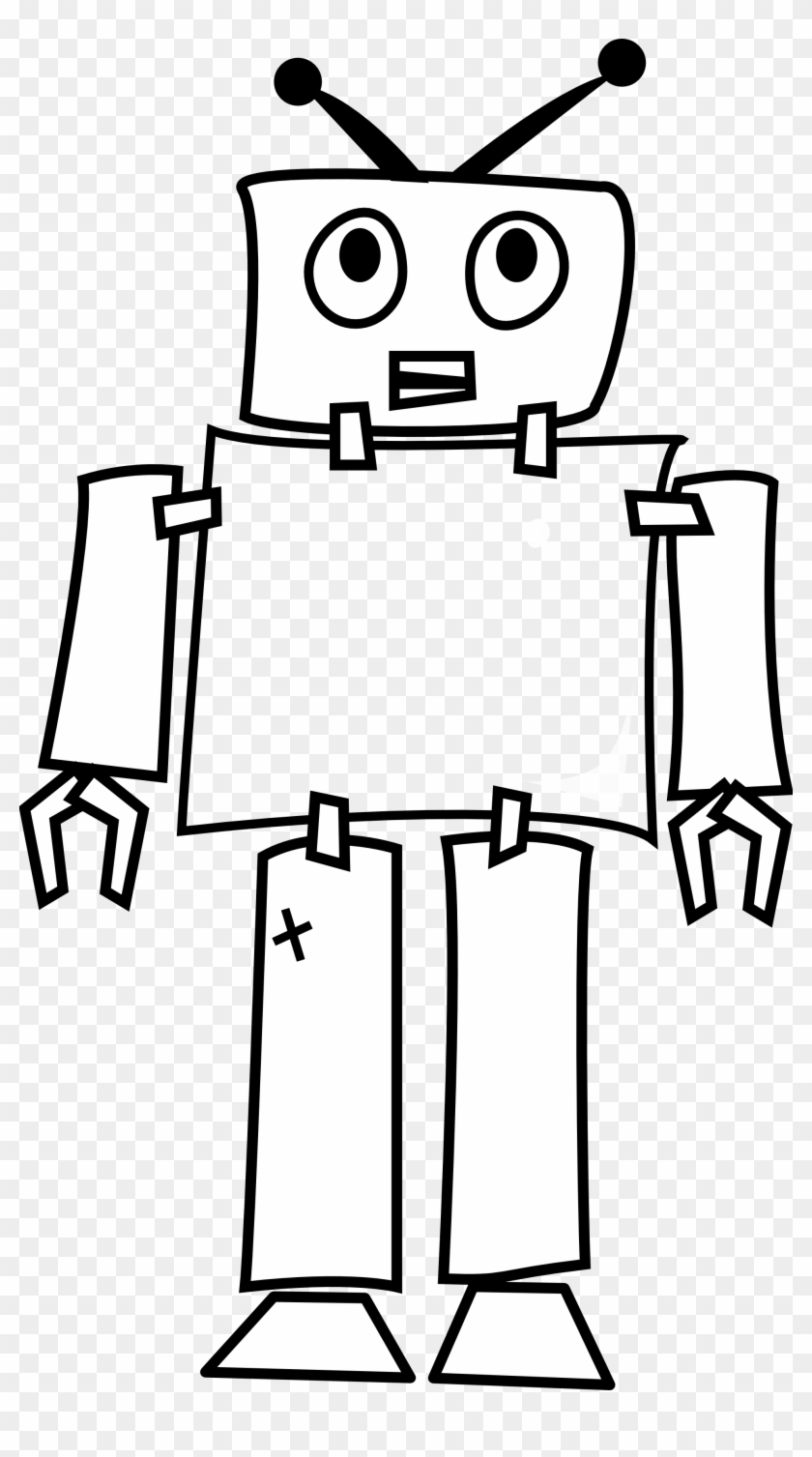 Robot Art Geometry 1969px 236 - Simple Drawing Of Robot #138069
