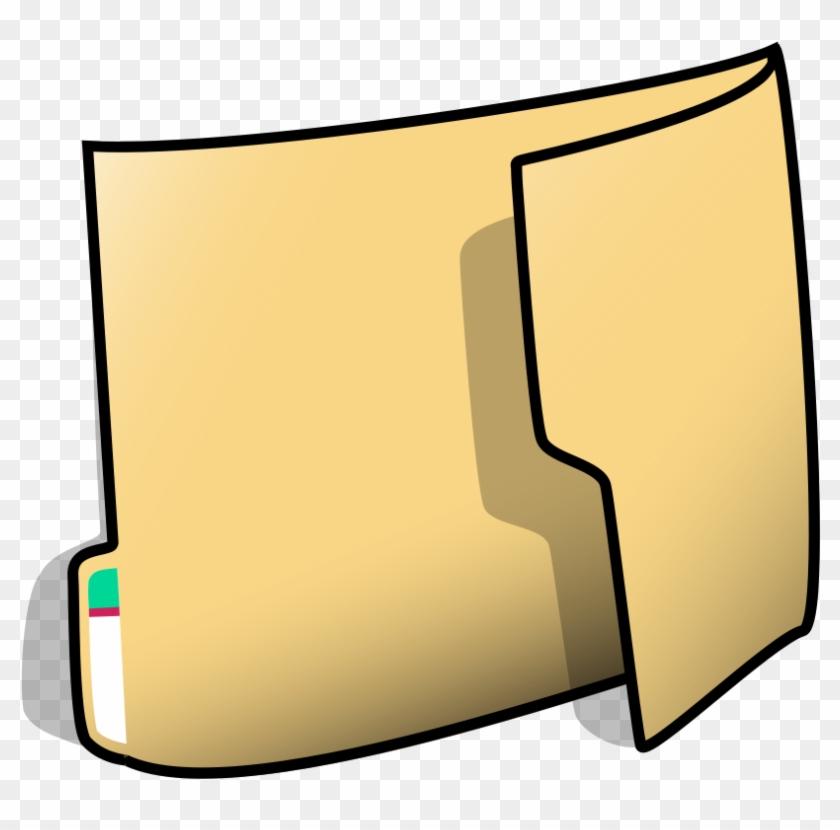 File Folder Clip Art - Cartoon Folder #138206
