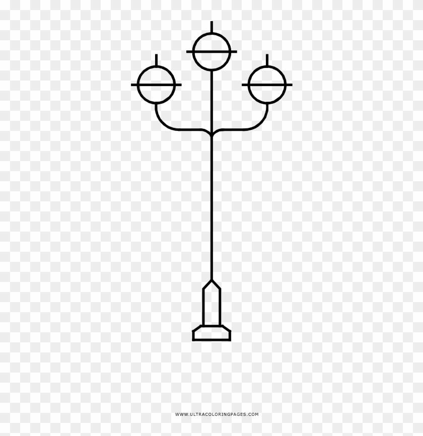 Lamp Post Coloring Page - Poste De Luz Para Colorear - Free ...