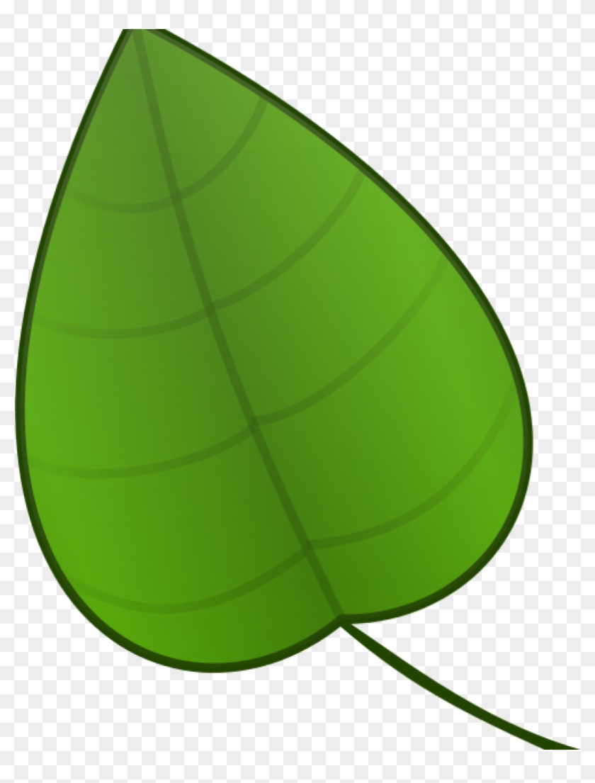 Green Leaves Clipart Free Vector And Clip Art Inspiration - Cartoon Leaf #727187