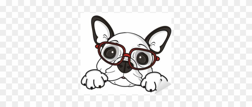 Glasses, Dog, French, Bulldog, Breed, Background, White, - Bulldog Puppies Clipart #727317